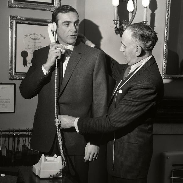 Sean Connery getting tailored by anthony sinclair