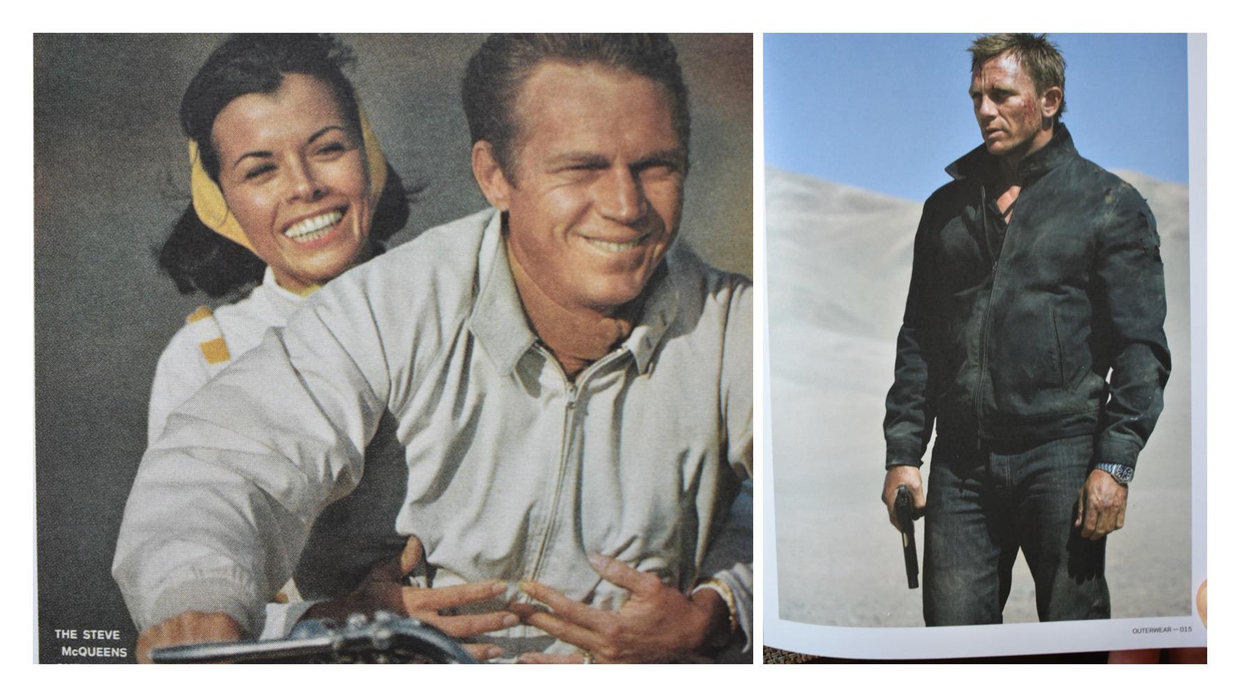 Steve McQueen and Daniel Craig Baracuta