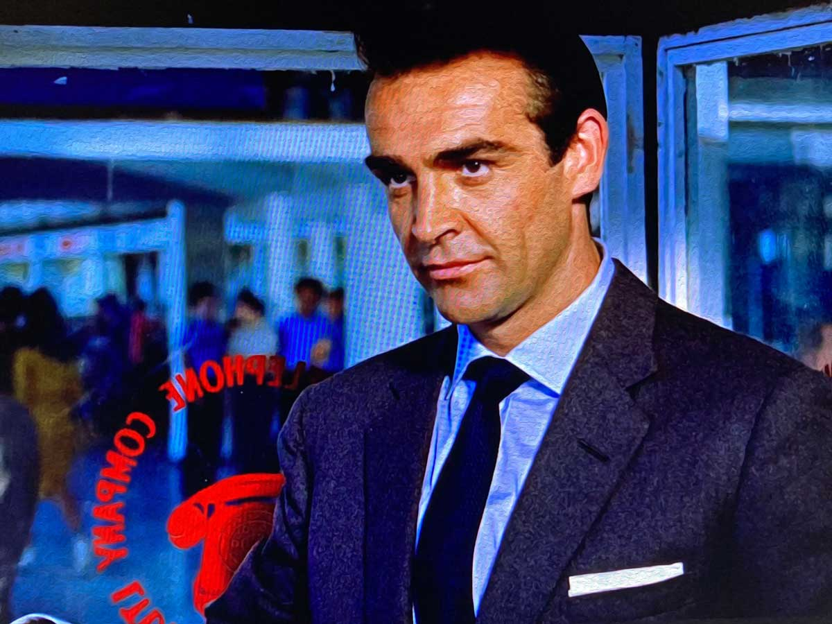 Dark Grey Flannel suit Connery in Dr. NO