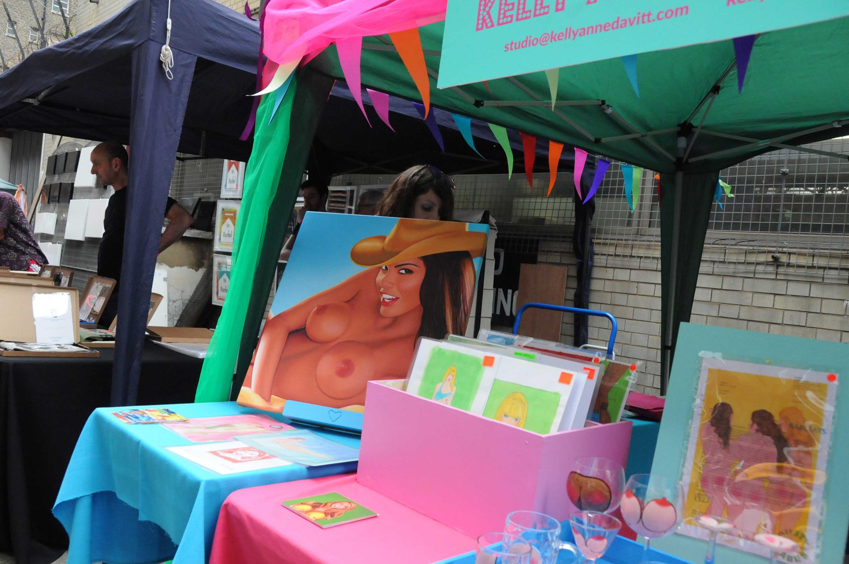 vauxhall art fair market stall in London