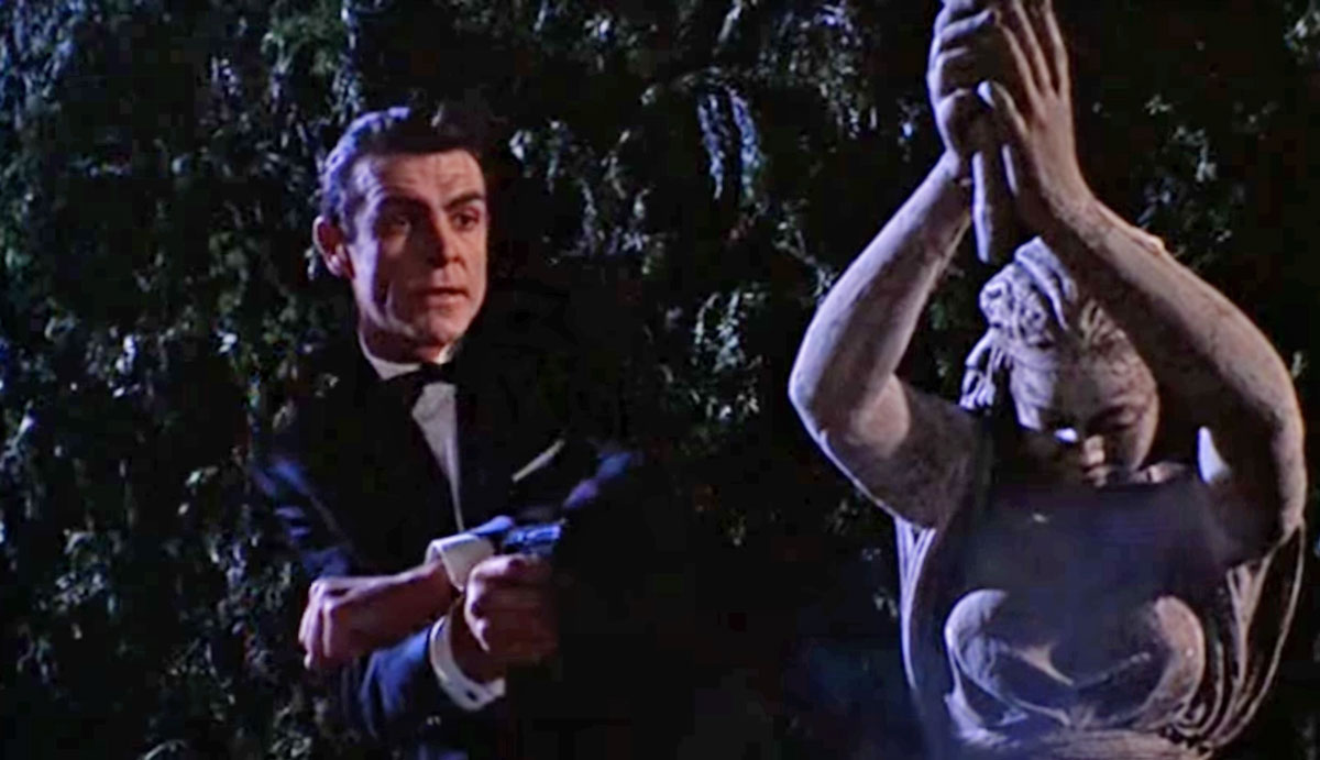 From Russia With Love garden scene