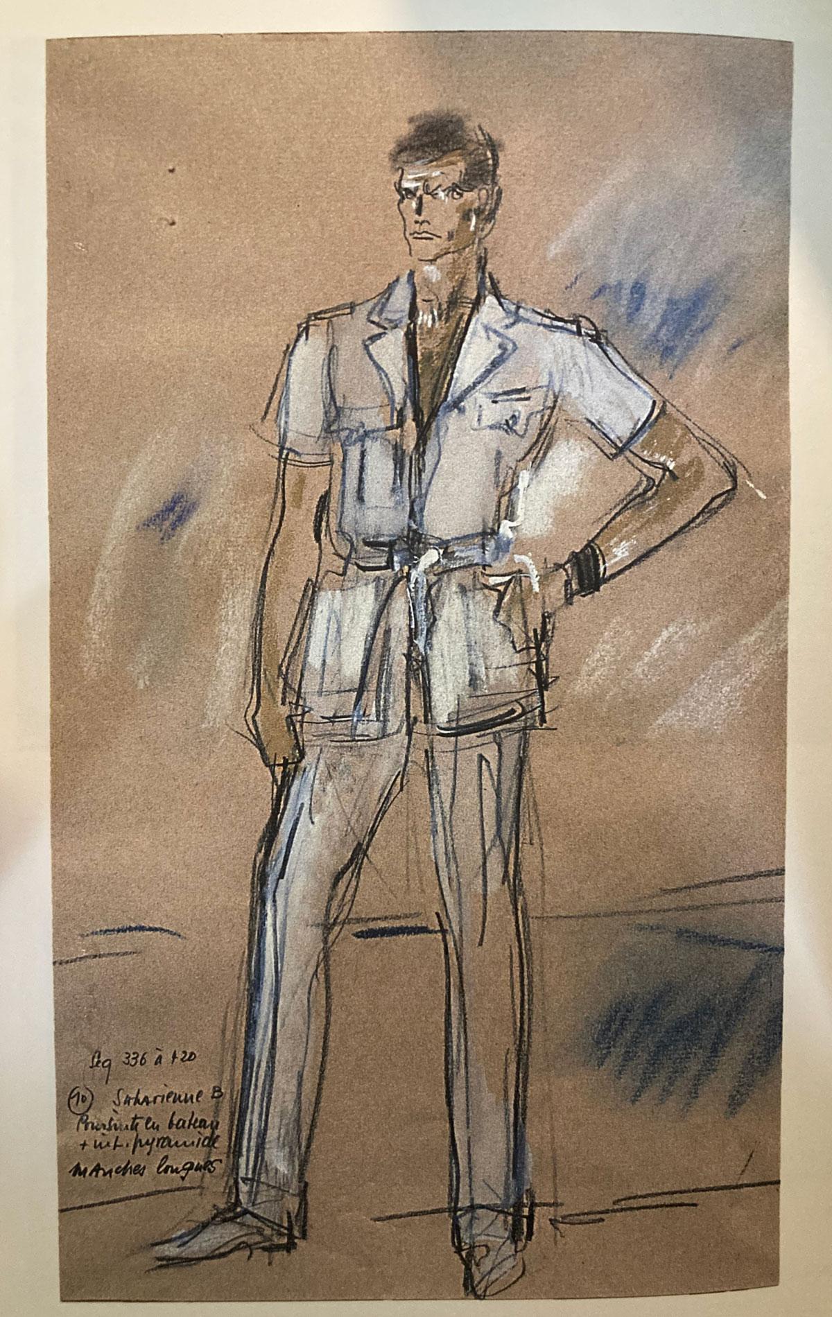 Roger Moore safari jacket illustration