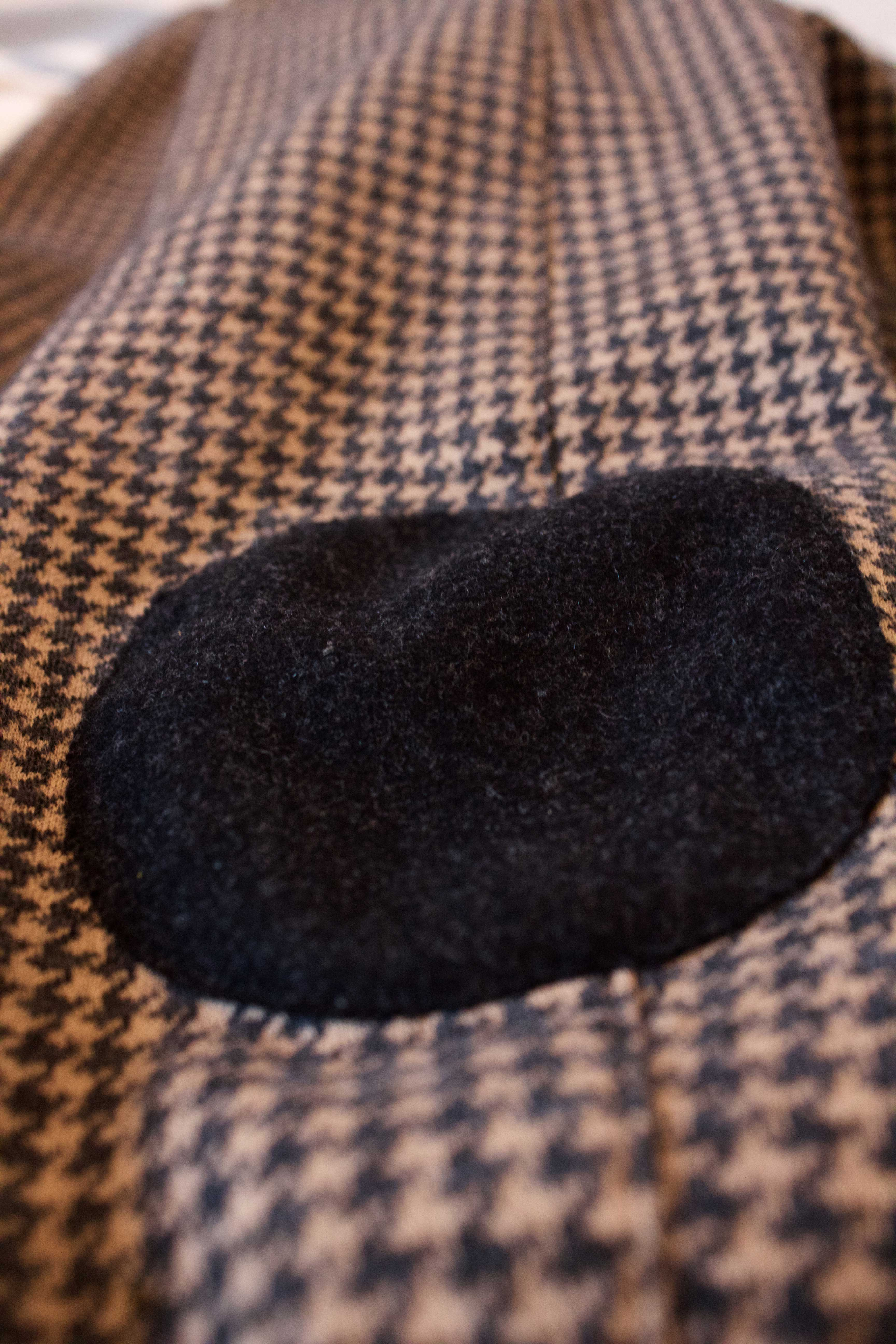 making your own clothes with elbow patches and houndstooth