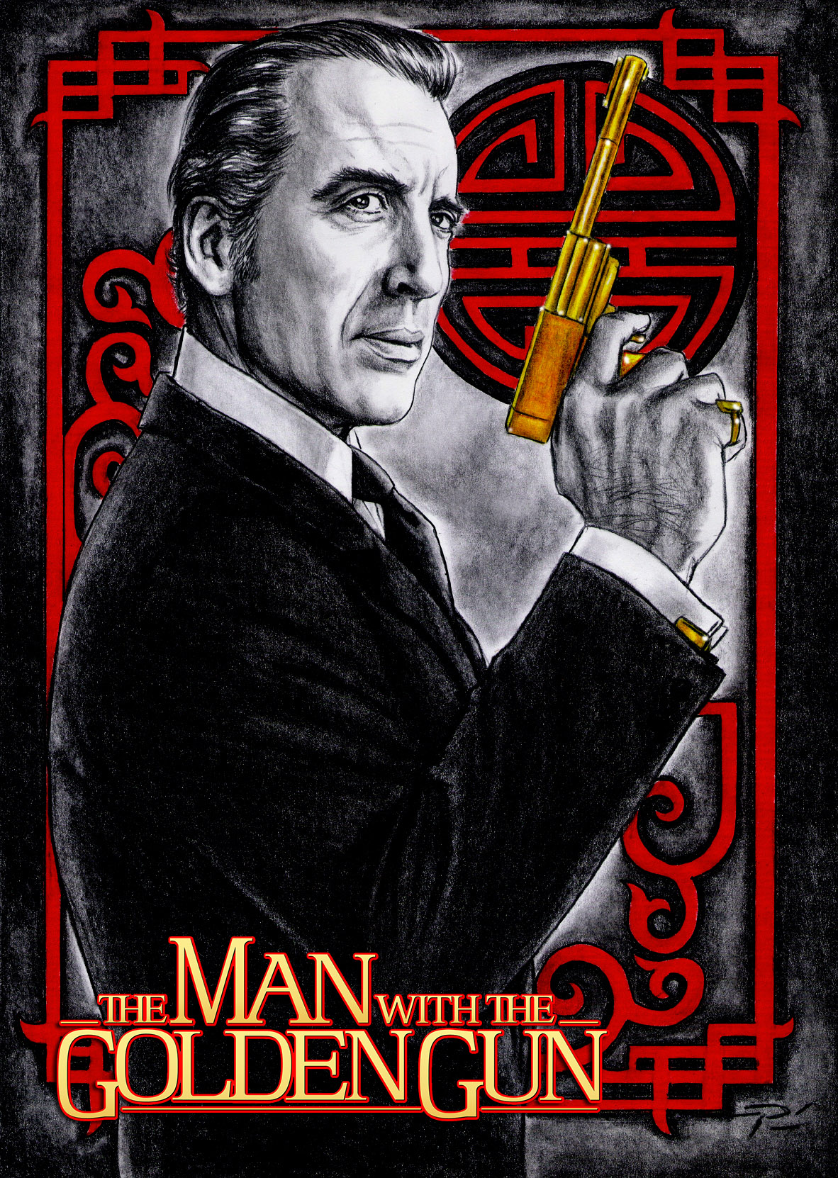 Christoper Lee Poster art