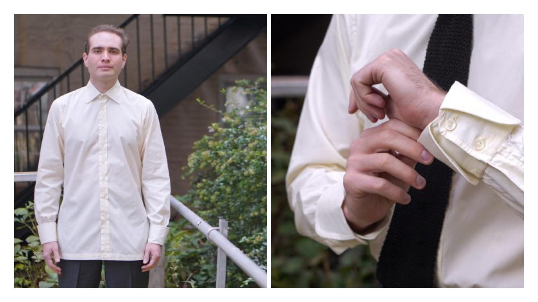 matt spaiser modelling frank foster shirts