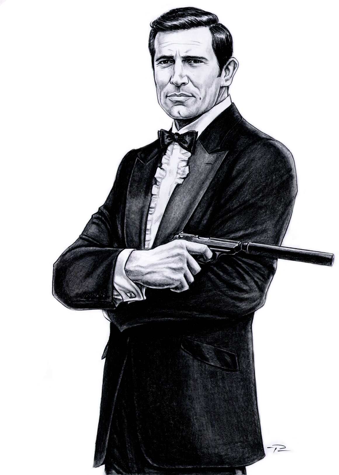 George Lazenby james bond clip art