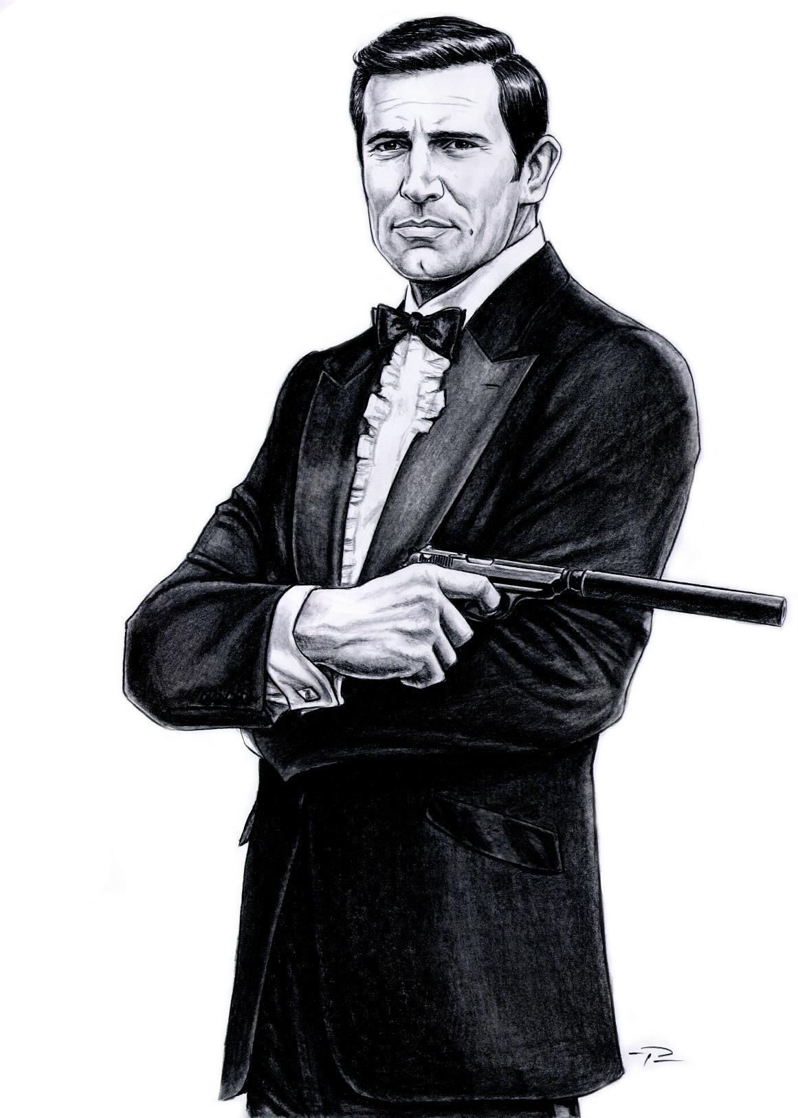 George Lazenby james bond clip art