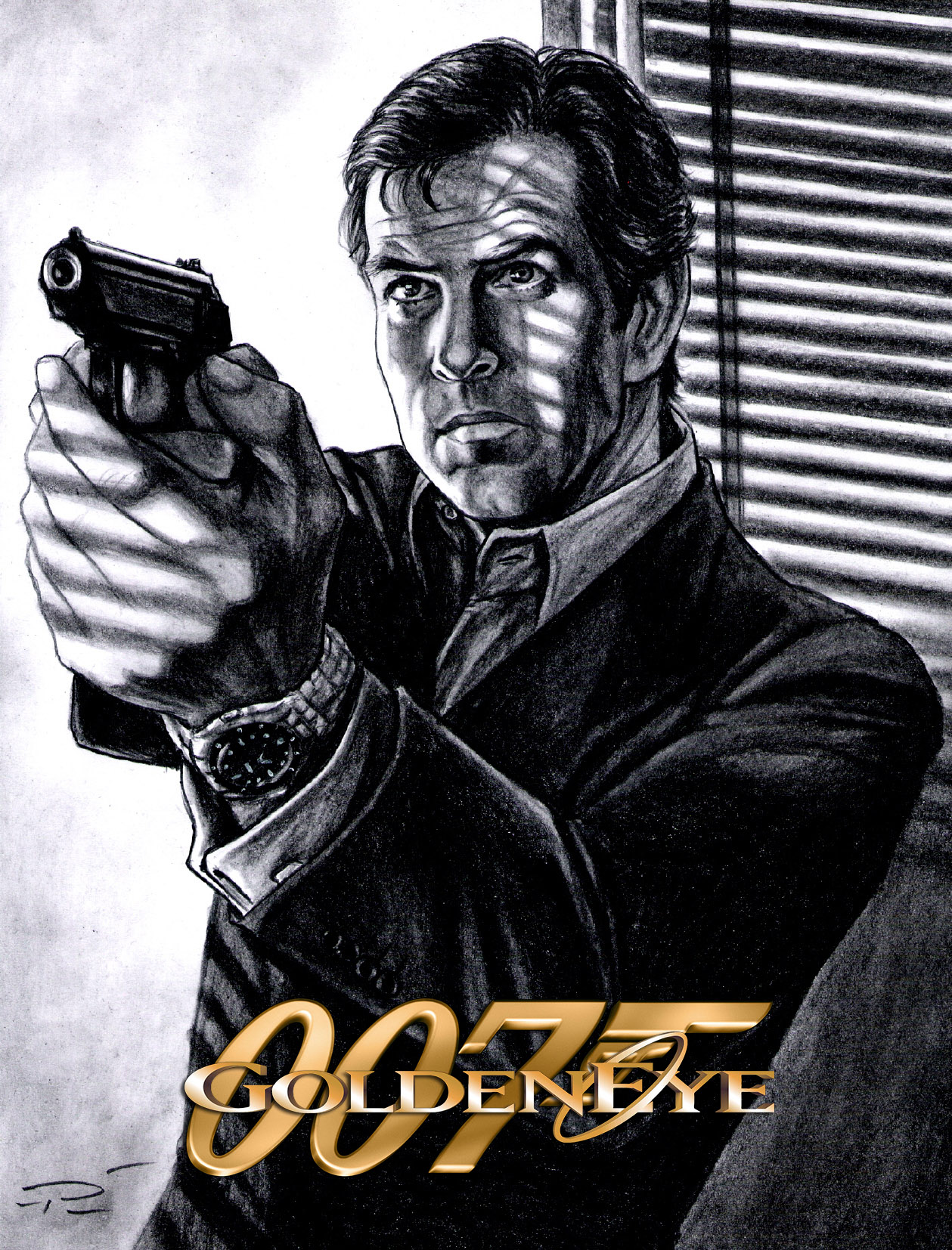 goldeneye drawing pierce brosnan