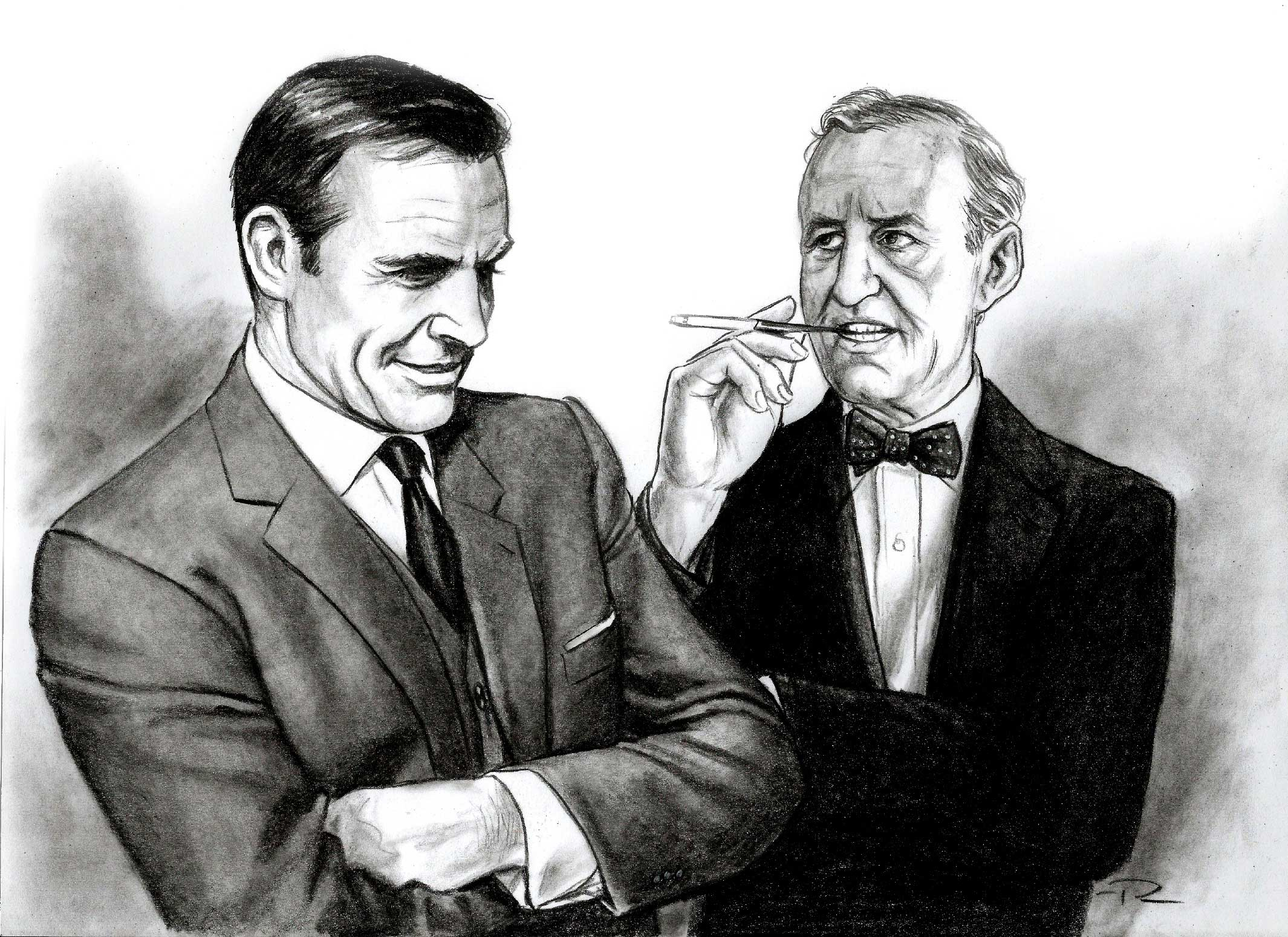 James Bond illustrations sean connery and ian fleming