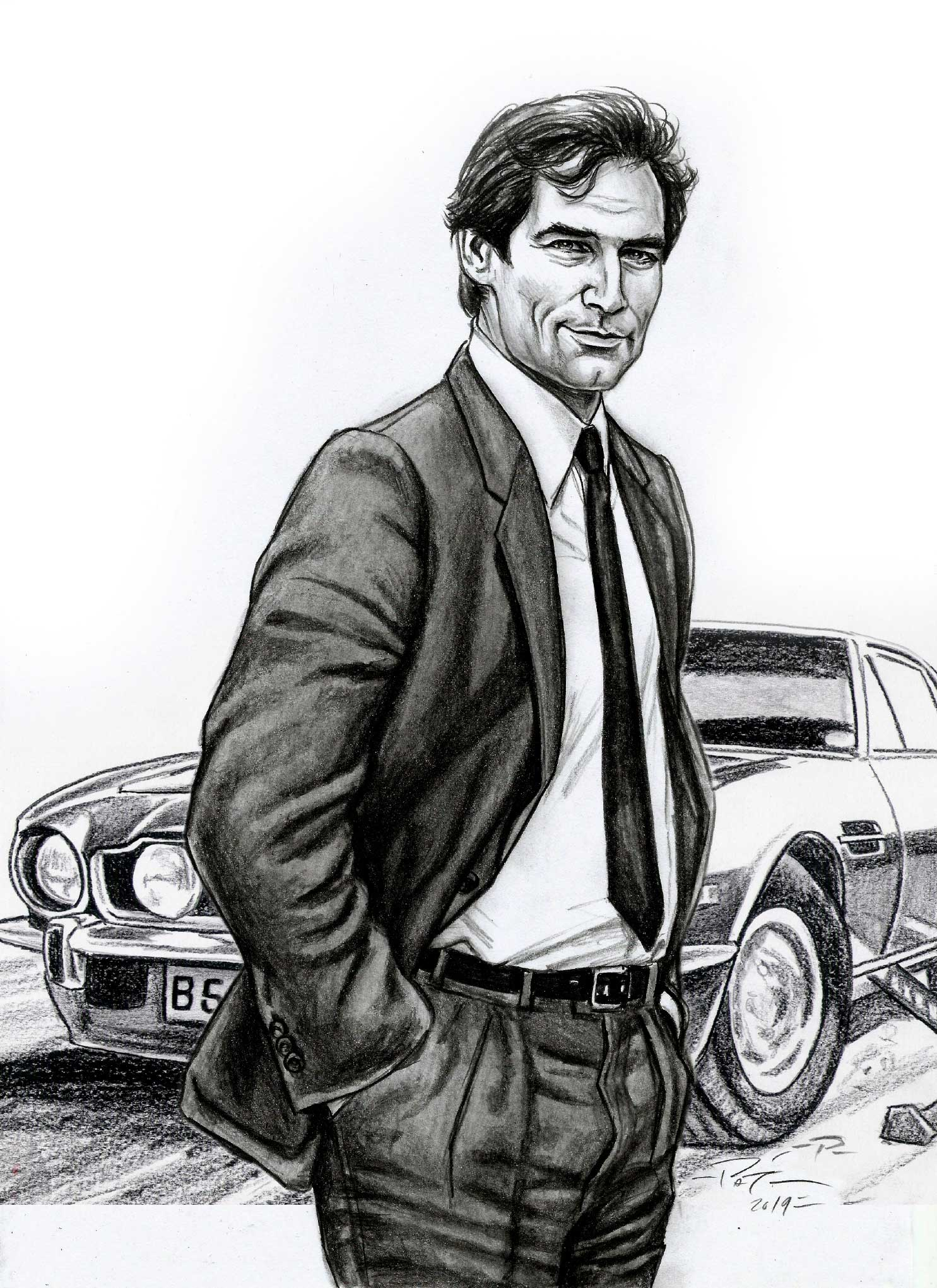 timothy dalton James Bond illustrations