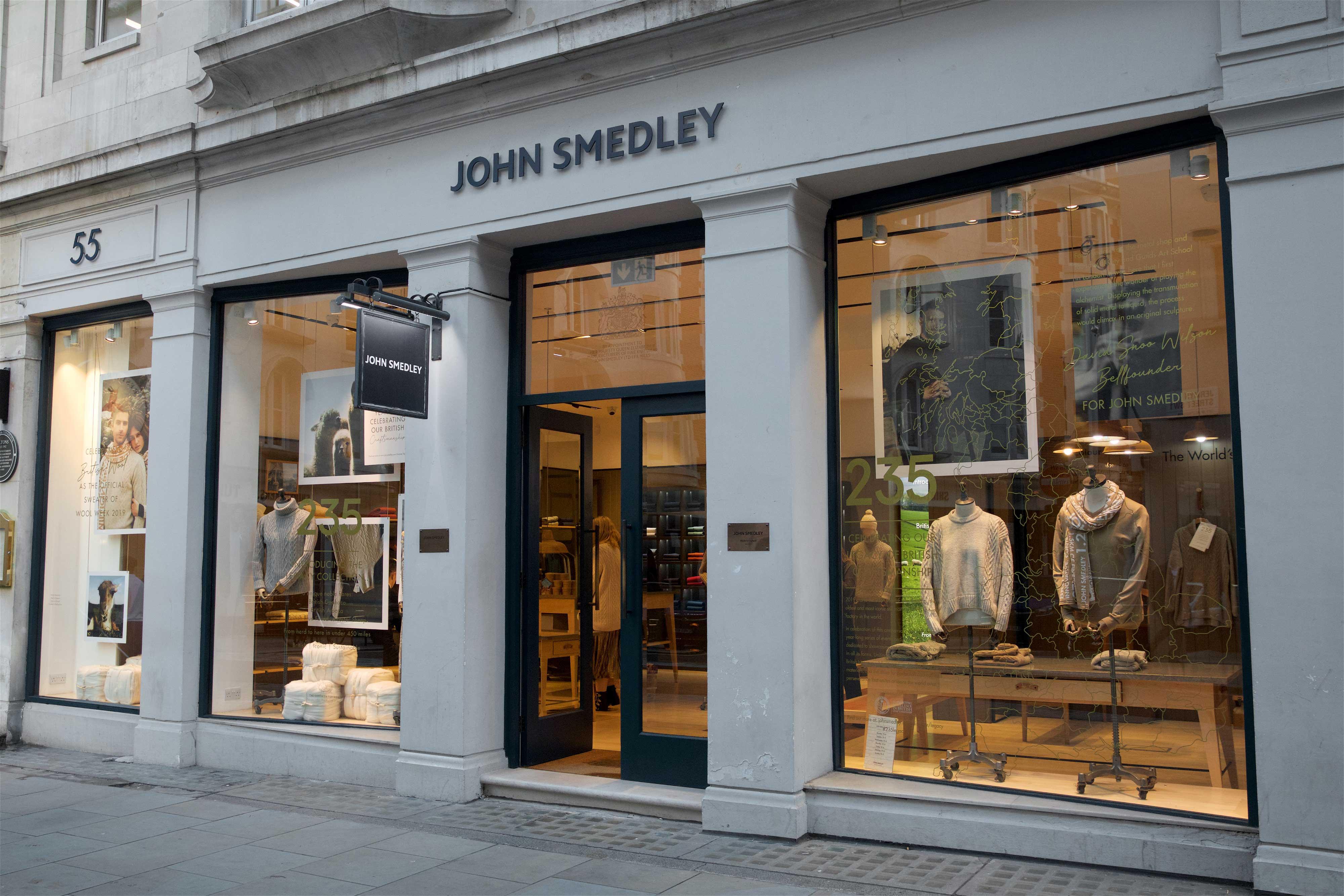 John Smedley shop front
