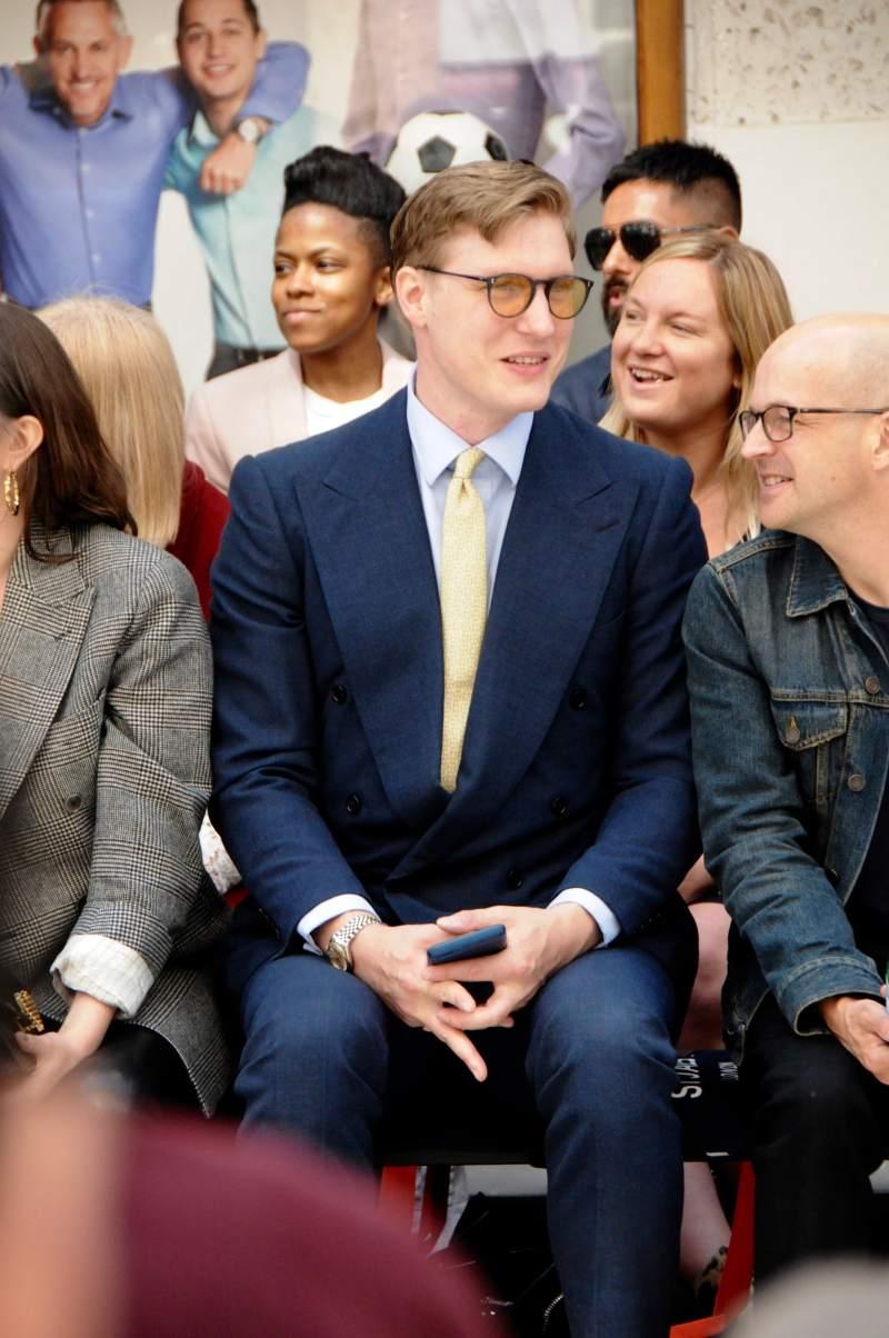Tom Chamberlin at London Fashion Week