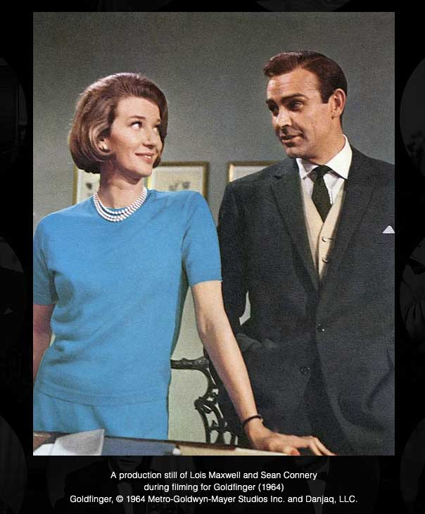james bond and lois maxwell goldfinger