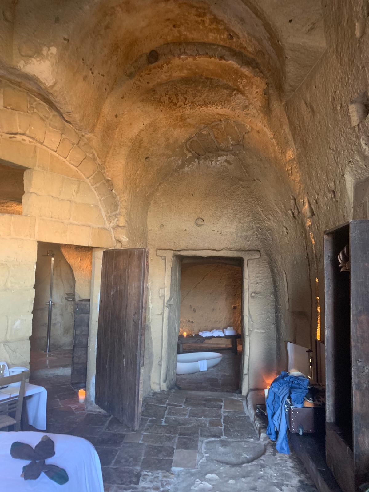 Cave hotel in Matera