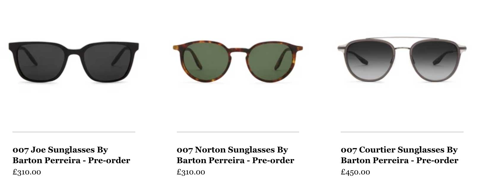 007 Sunglasses