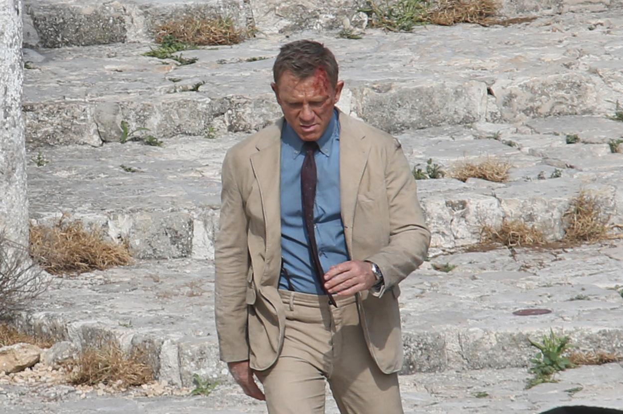Bond in a Burgundy Tie