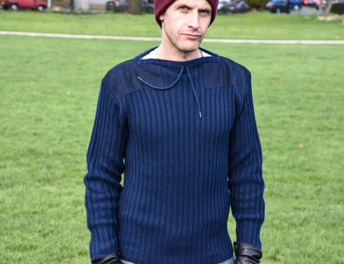 N.Peal Navy Ribbed Army Sweater from No Time to Die