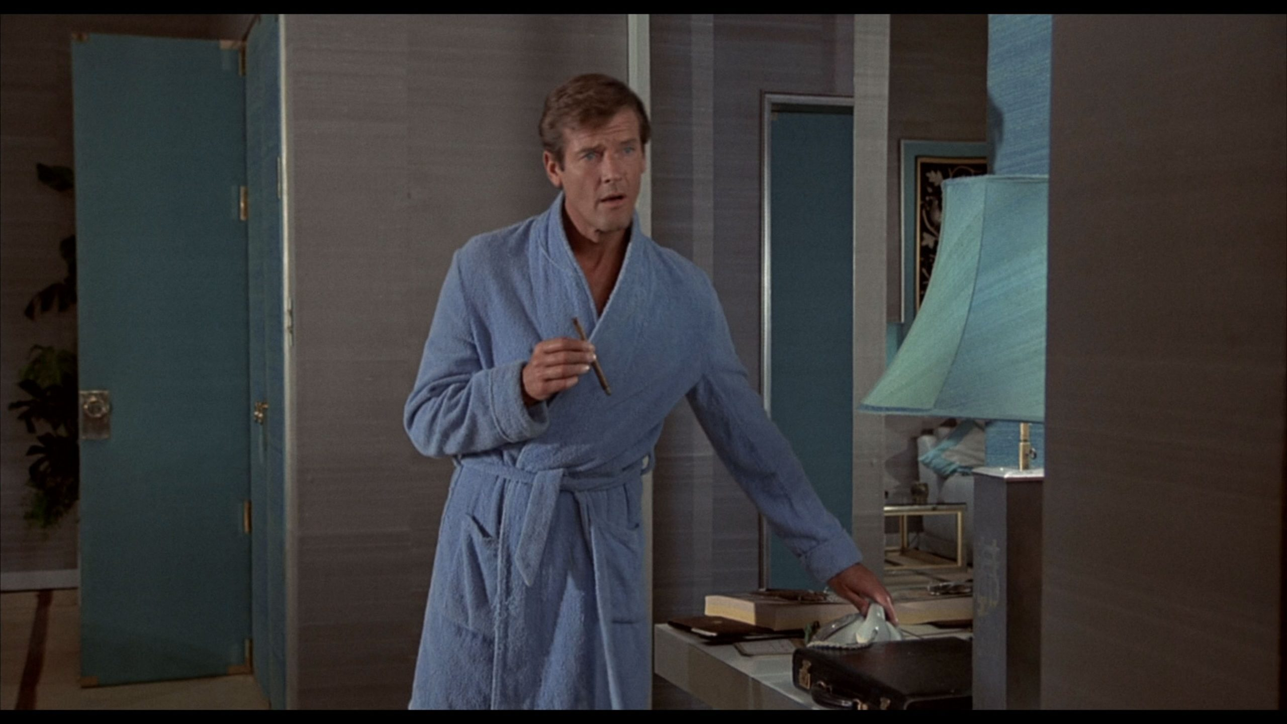 roger moore towelling