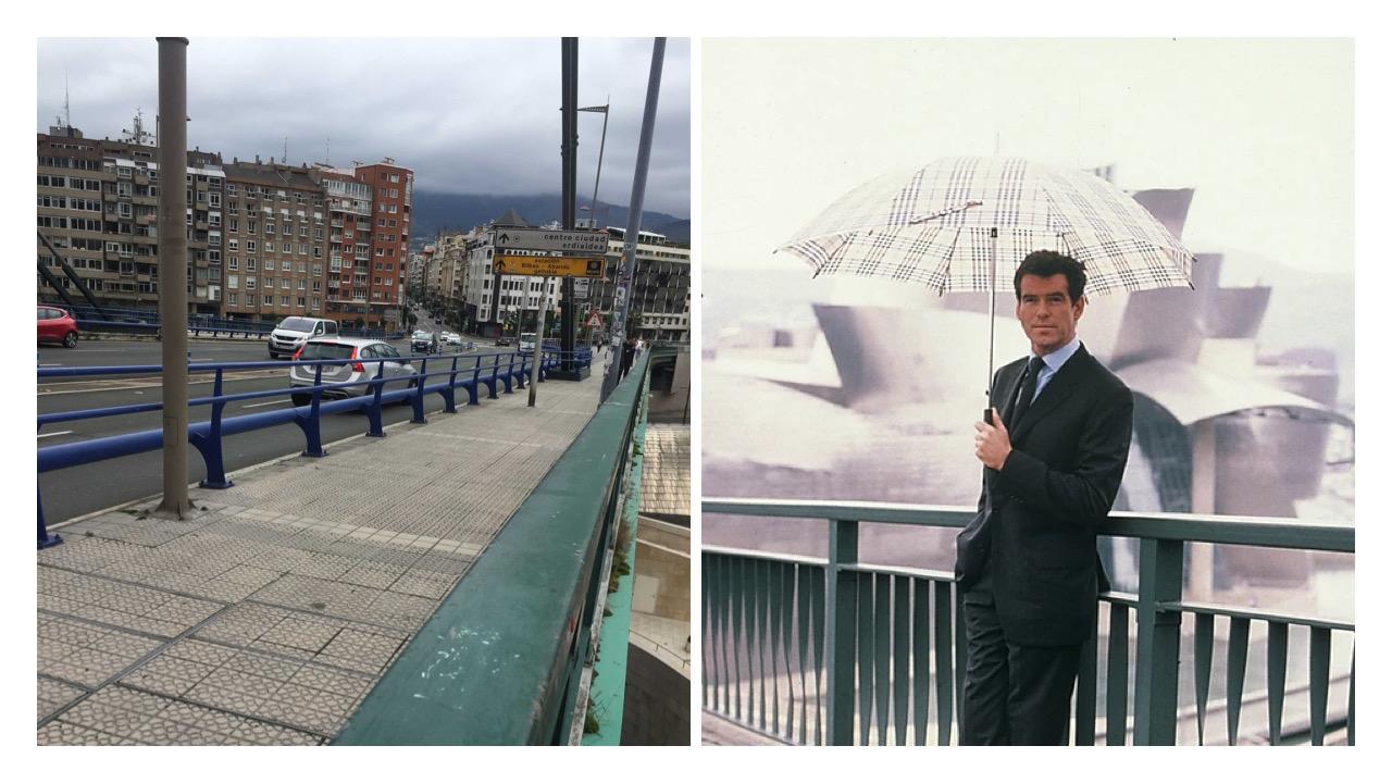 the bridge in Bilbao Brosnan