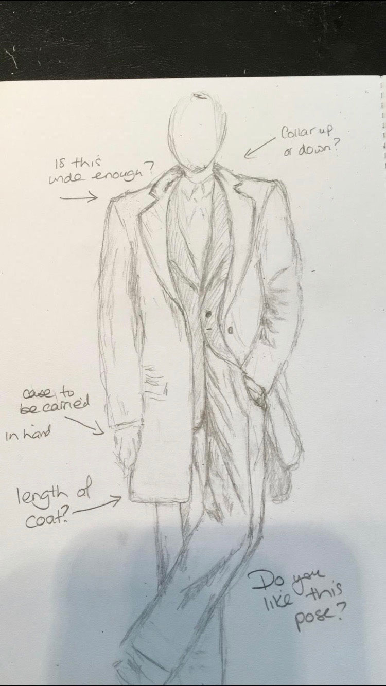 Fleming's Bond Wardrobe sketch