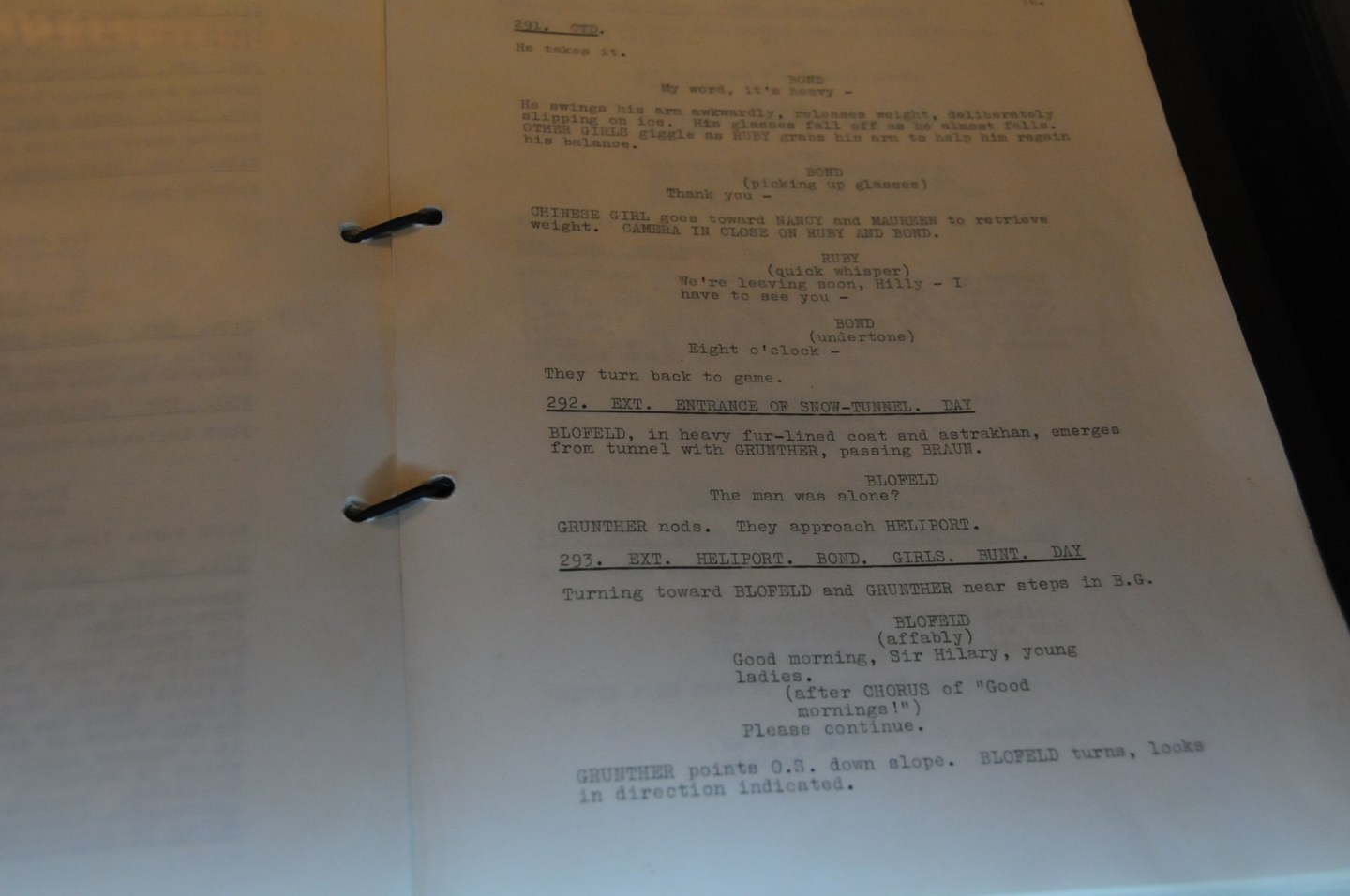 james bond scripts