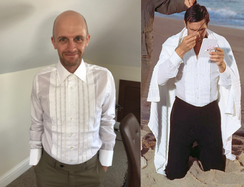 Recreating the Pleated Dress shirt from On Her Majesty's Secret Service