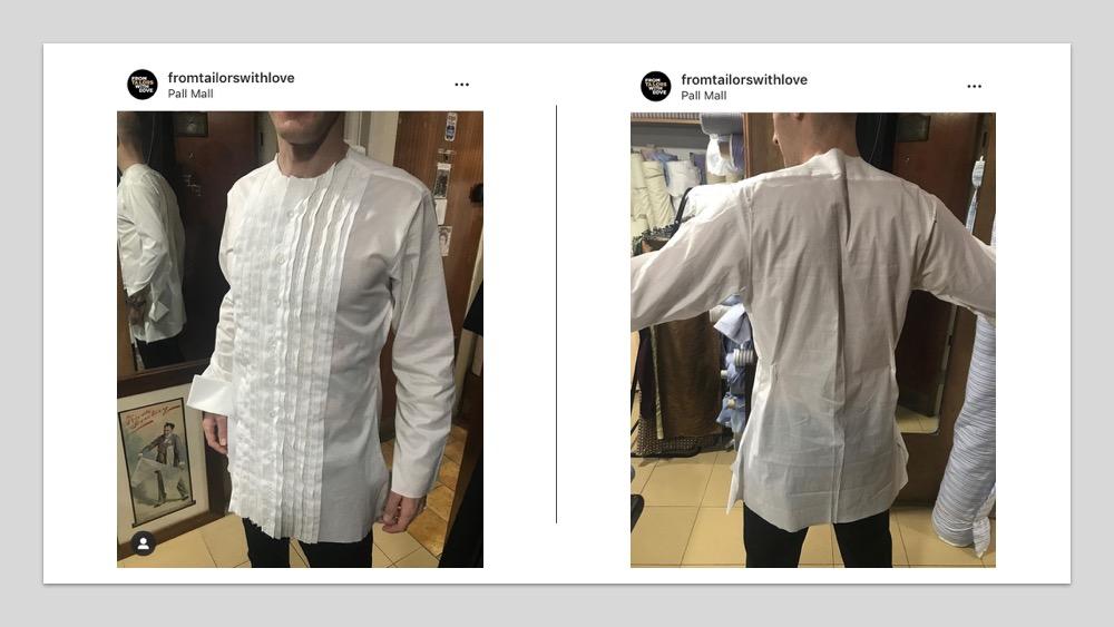 bespoke shirt fitting