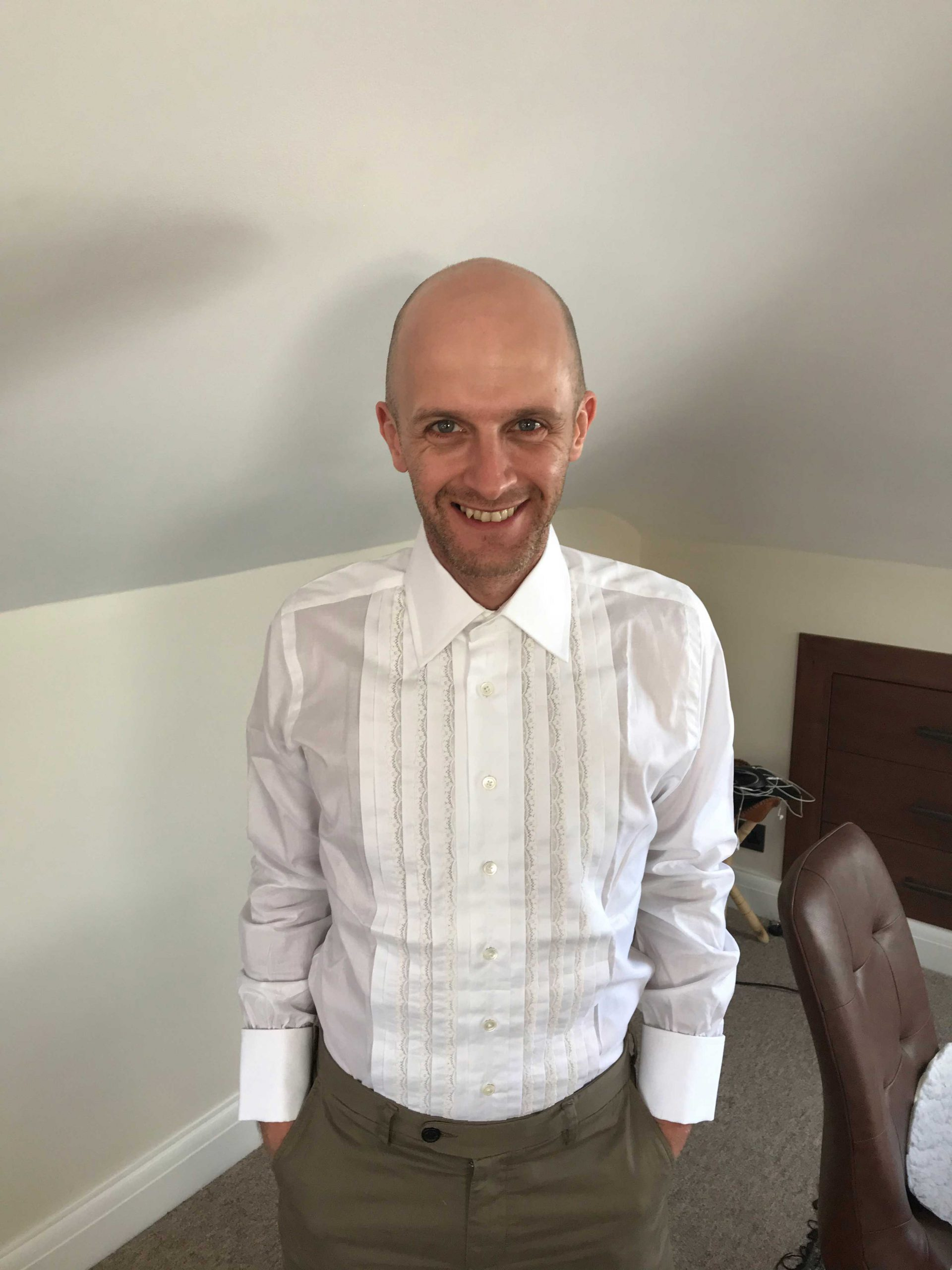 Pleated dress shirt from Frank Foster