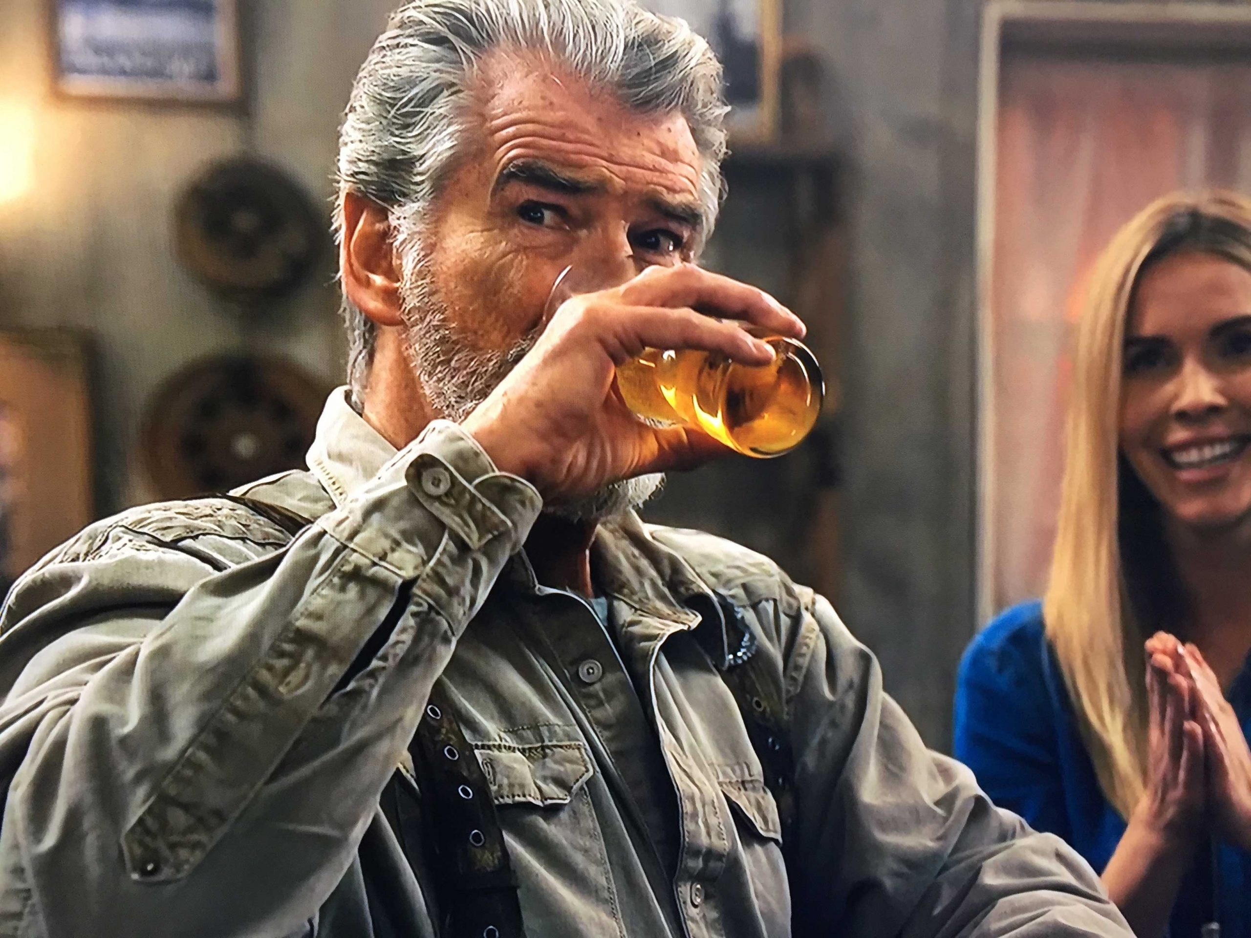 pierce brosnan drinking
