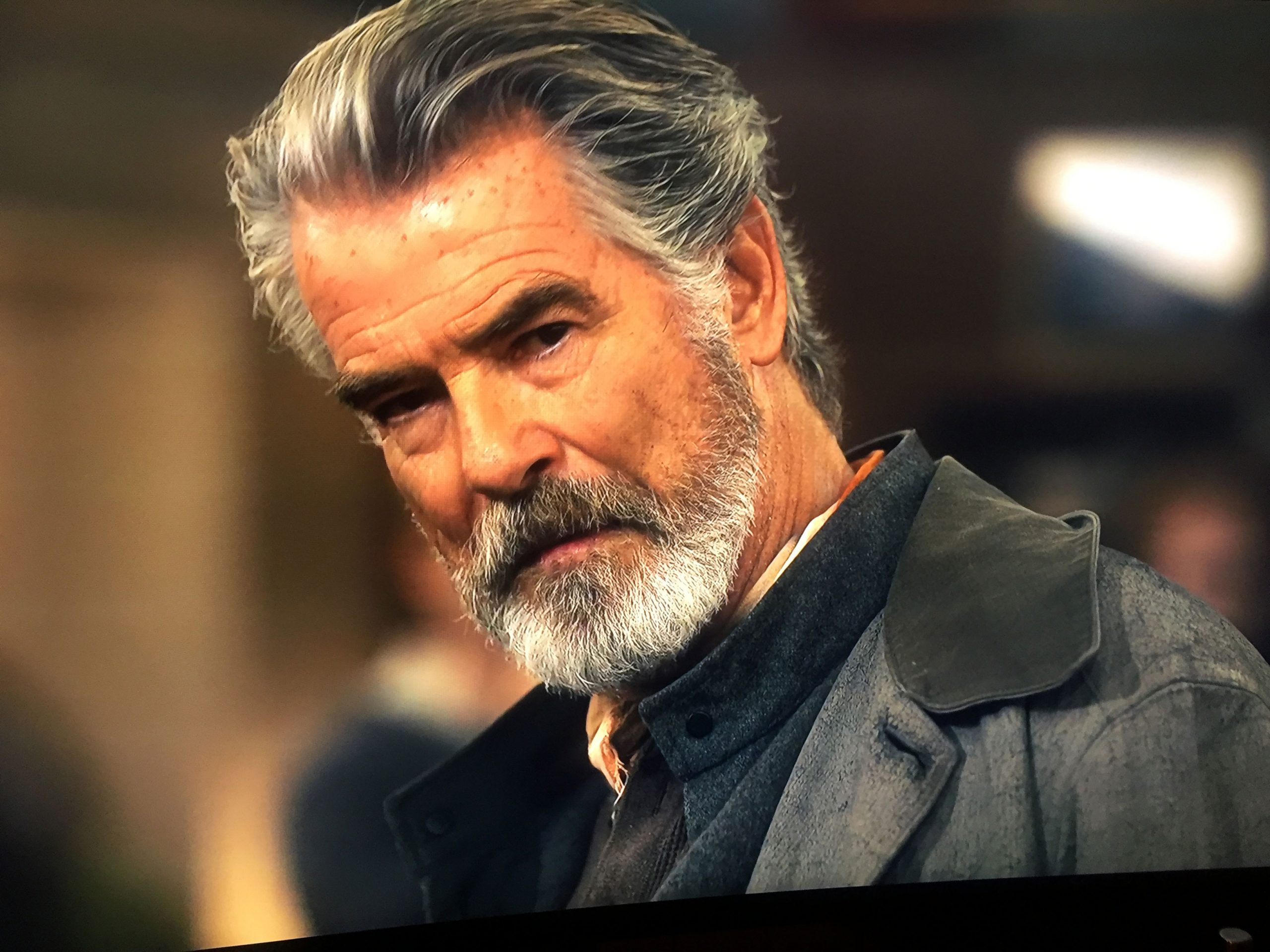 pierce brosnan looking mean