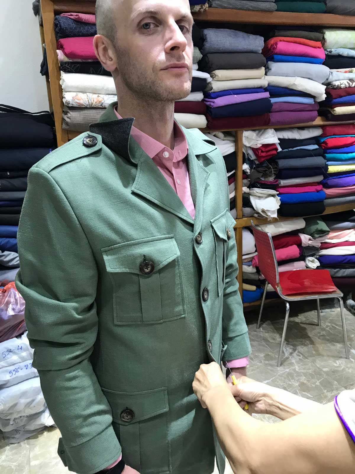 Bespoke fitting for safari jacket