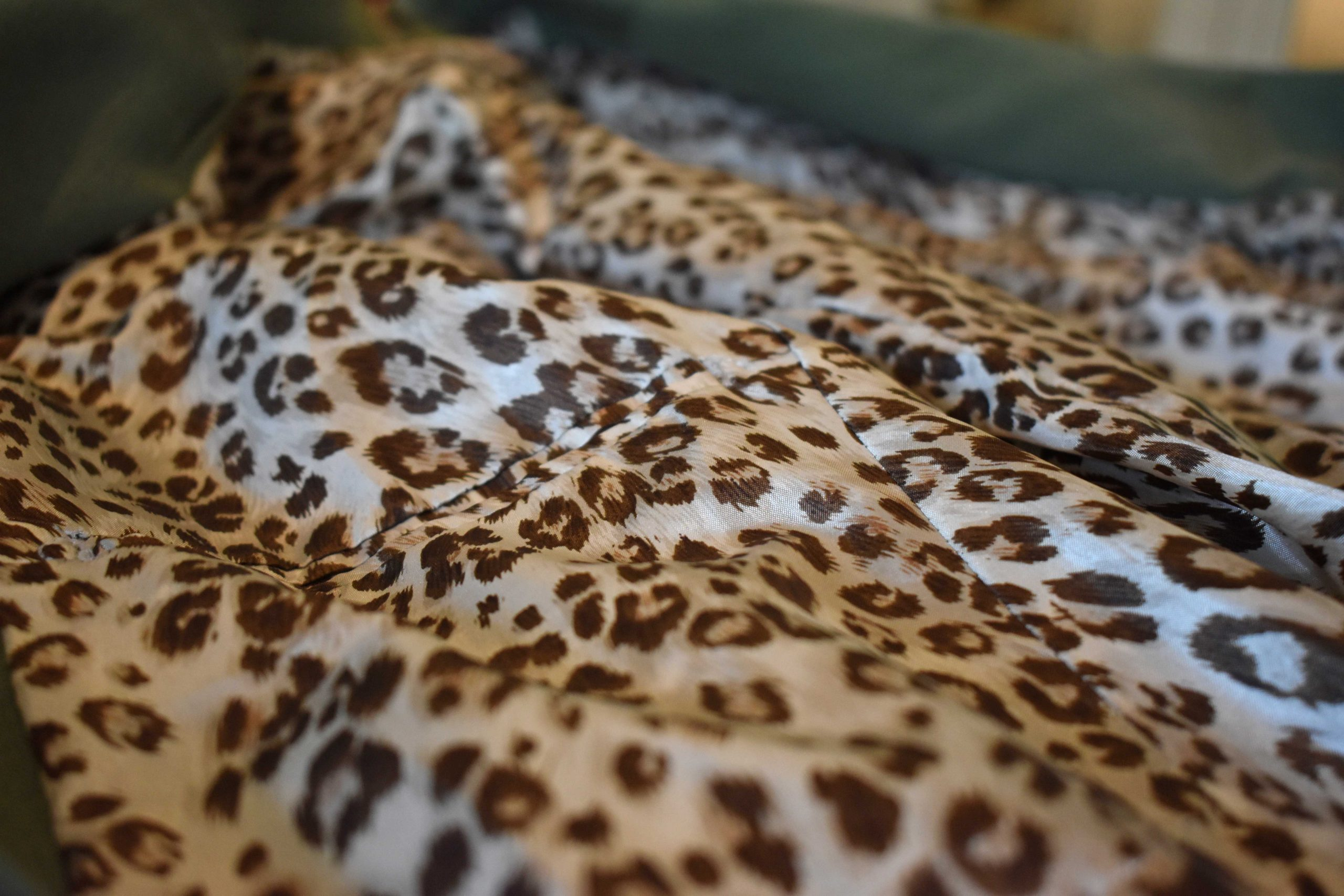 leopard print lining