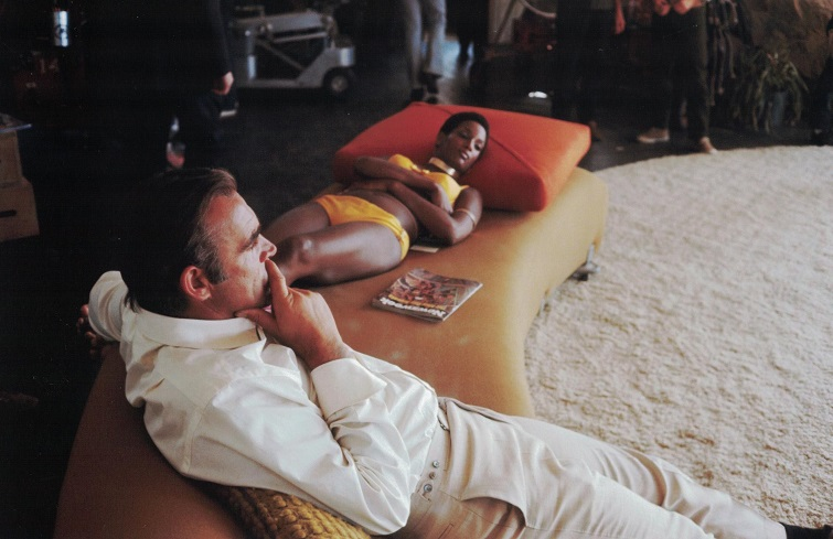 Trina parks diamonds on the couch with sean connery