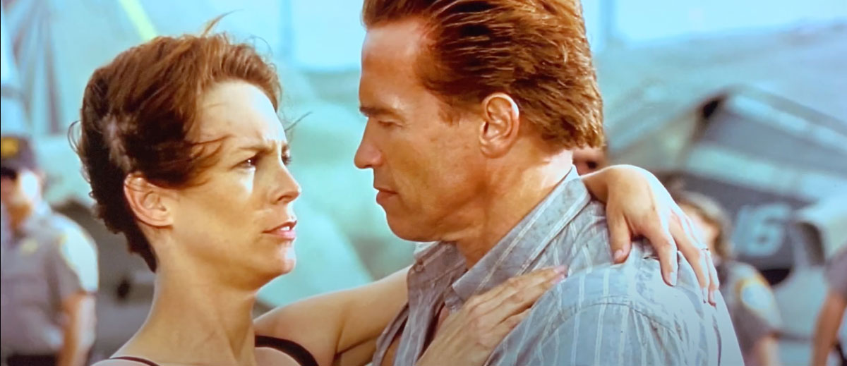 Arnold Schwarzenegger Jamie Lee Curtis high def True Lies