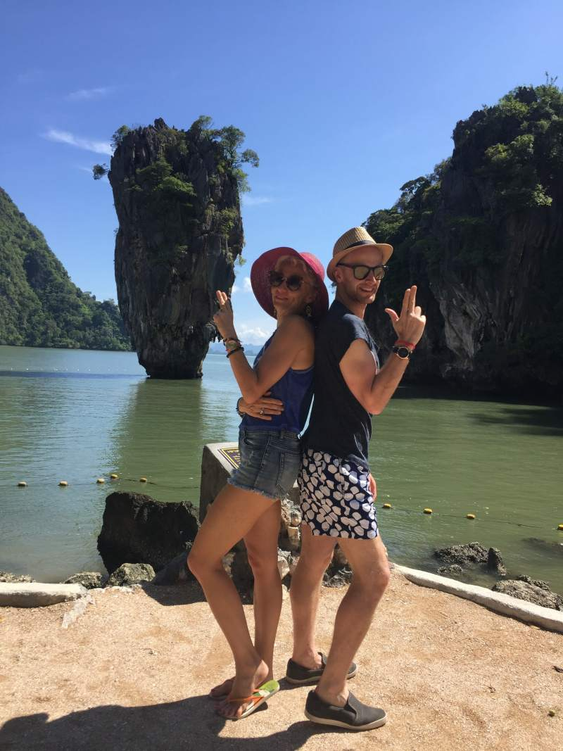 james bond island pose