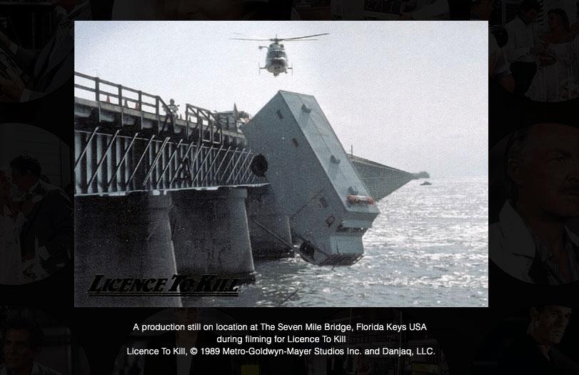 Licence to Kill bridge scene