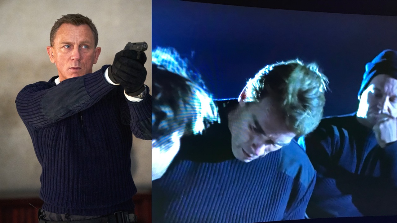 James Bond and True Lies military sweater comparison