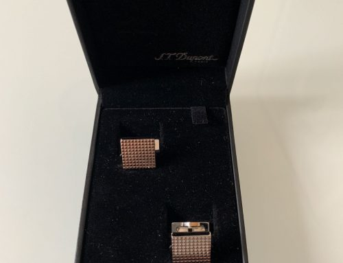 S.T. Dupont – 5172 Diamond Head Square Cufflinks