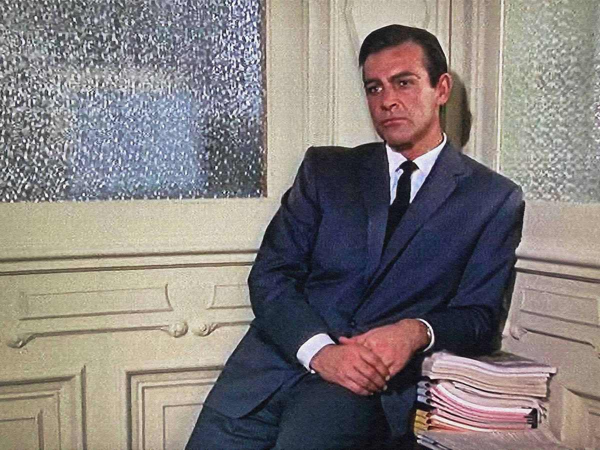 Marnie connery navy suit