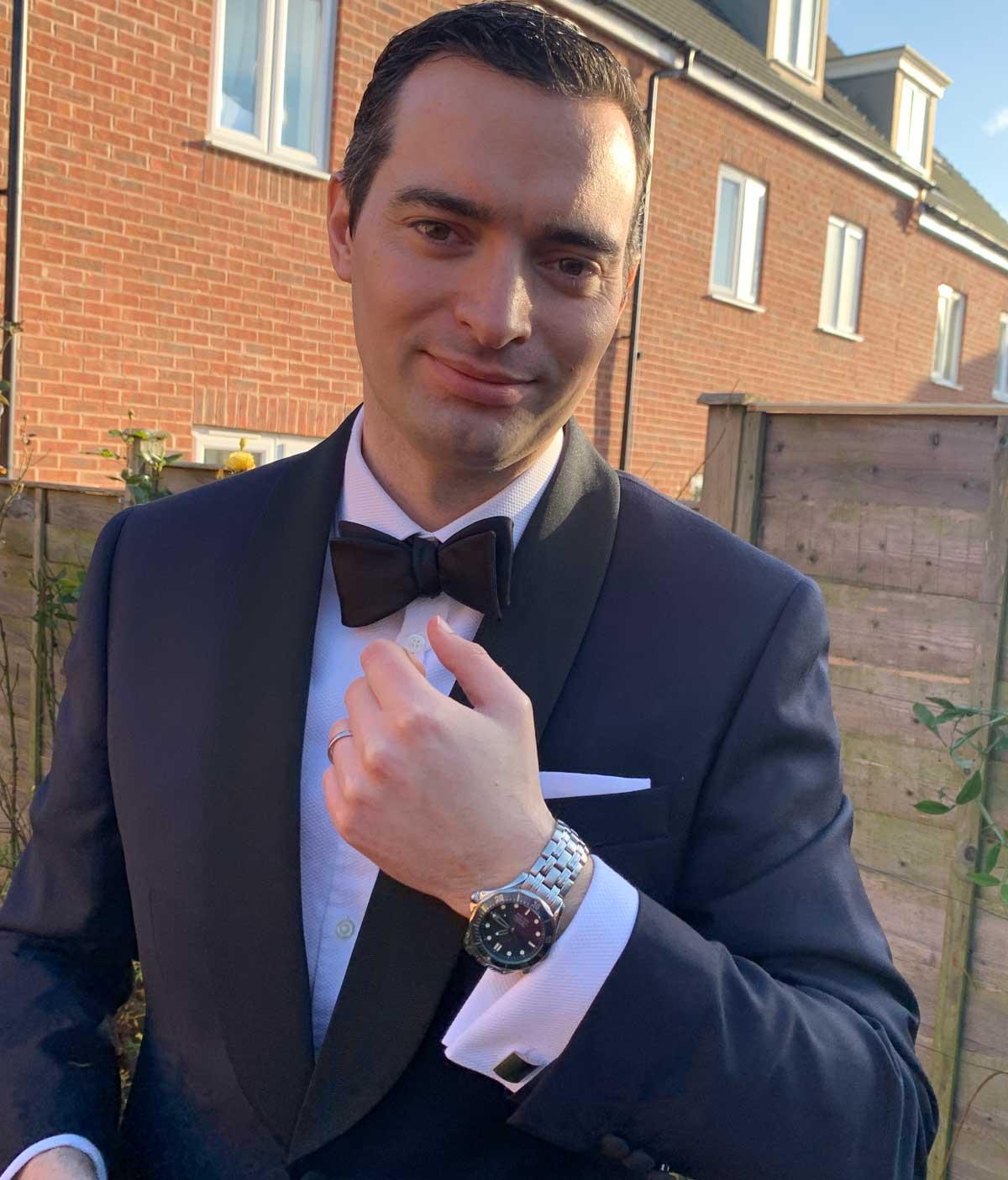 Cufflinks from Casino Royale tuxedo dressed up