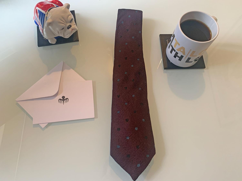 Burgundy Tie By Alexander Olch flat lay