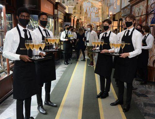 The Bollinger Champagne Bar in Burlington Arcade Welcomes Bond Fans