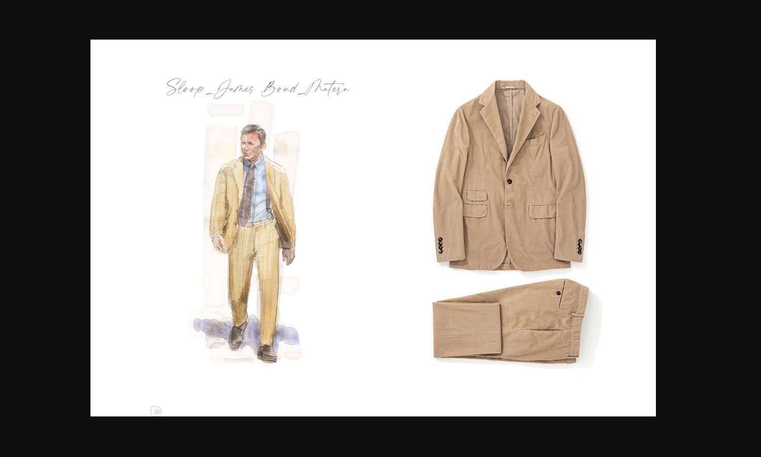 Massimo Alba Illustration of Sloop Suit and flat lay of suit