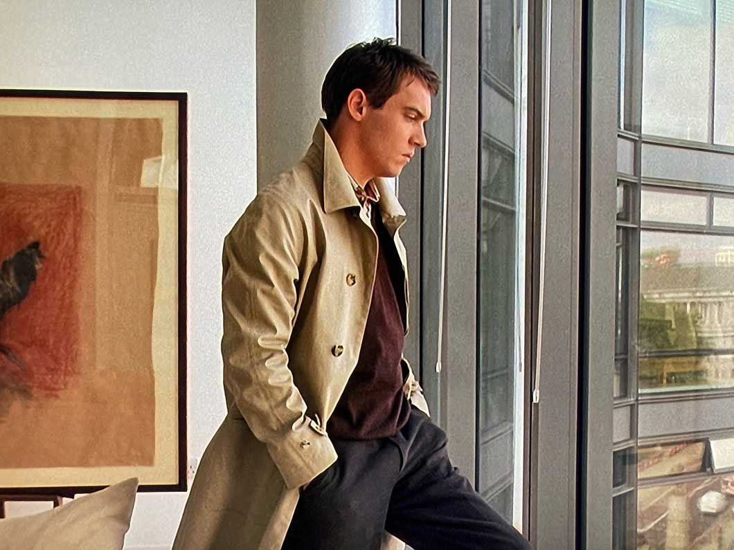 Match Point Jonathan Rhys Myers trench coat