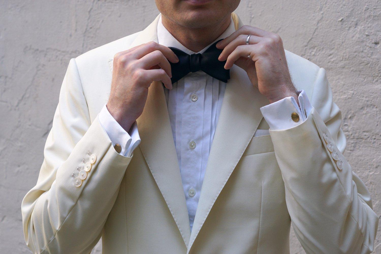 Getting Married ivory dinner jacket
