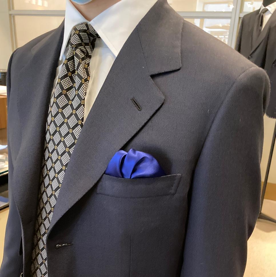 Brioni Bespoke birdseye fabric