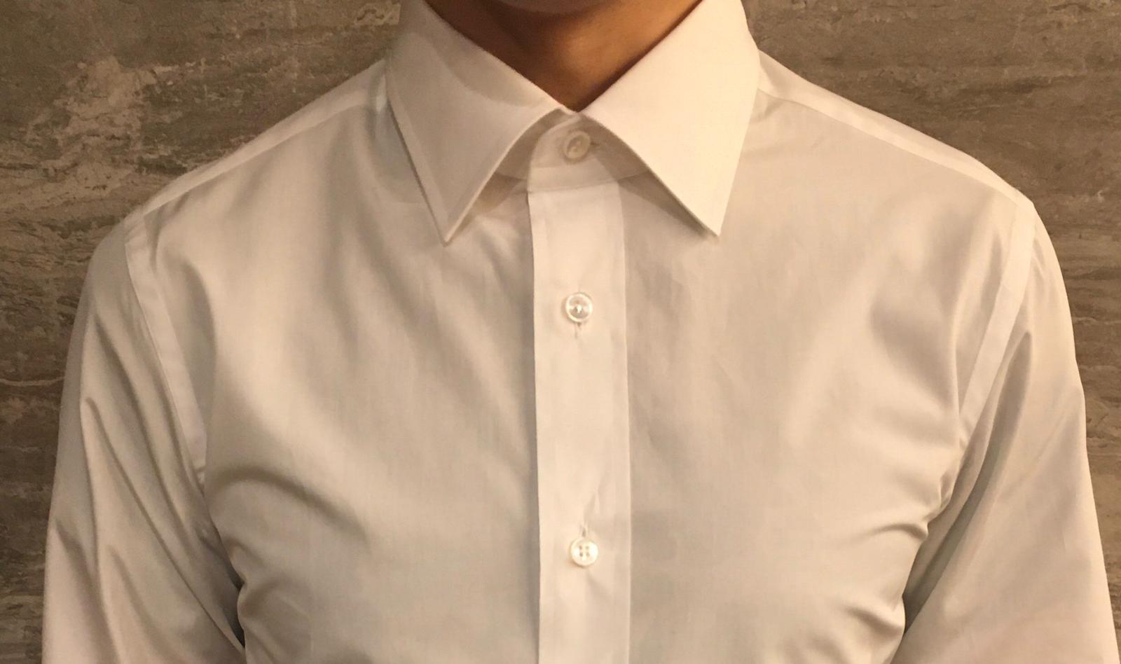 Brioni Bespoke Shirt collar and placket