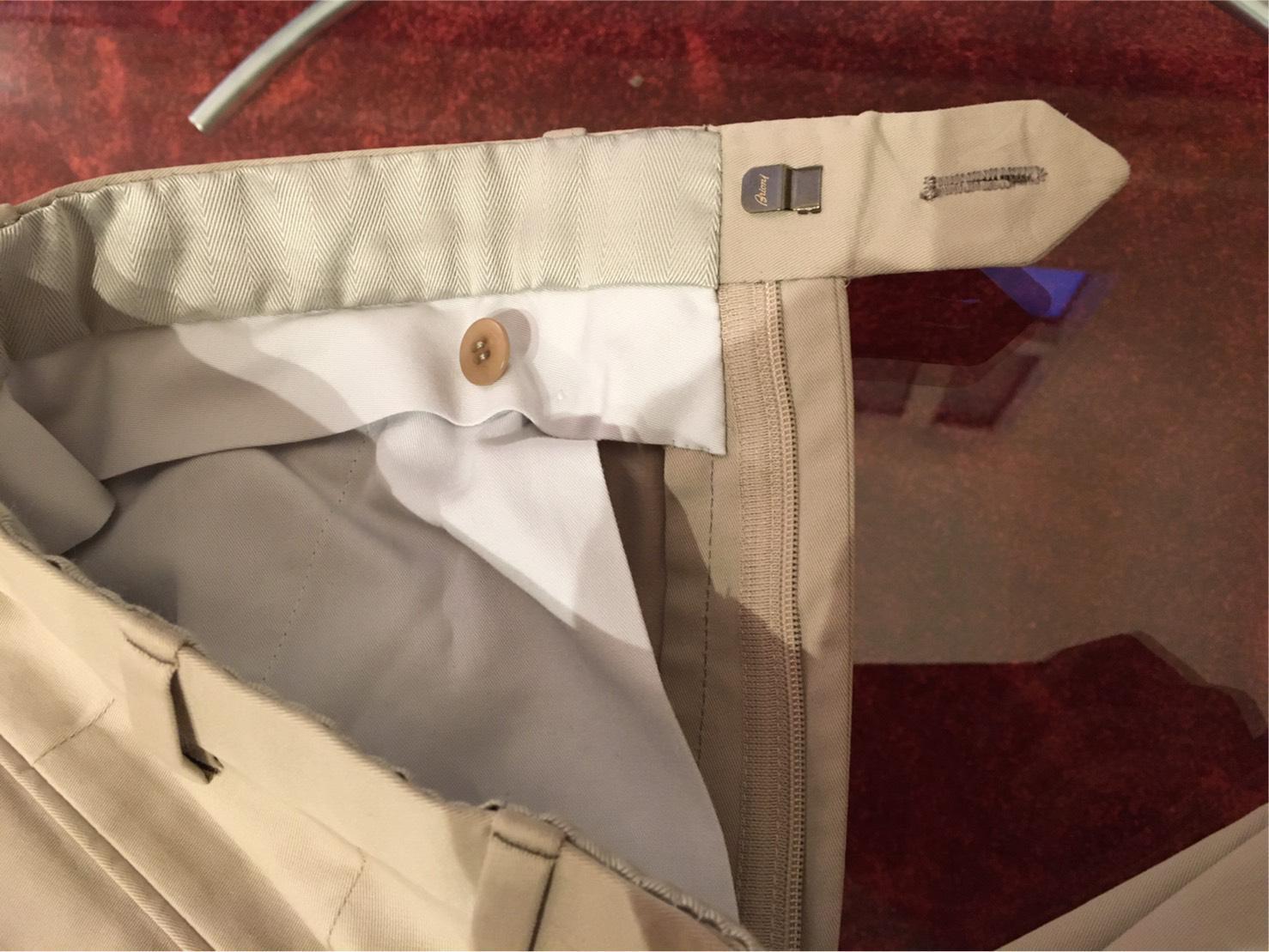 Bespoke Trousers zipper