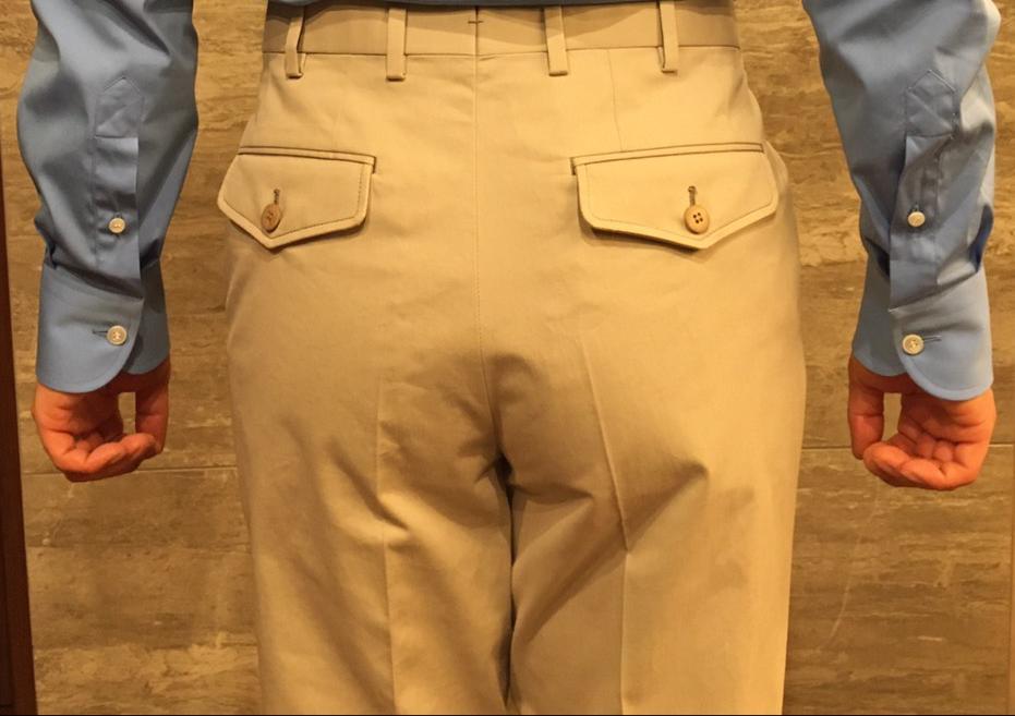 Bespoke Trousers pockets rear