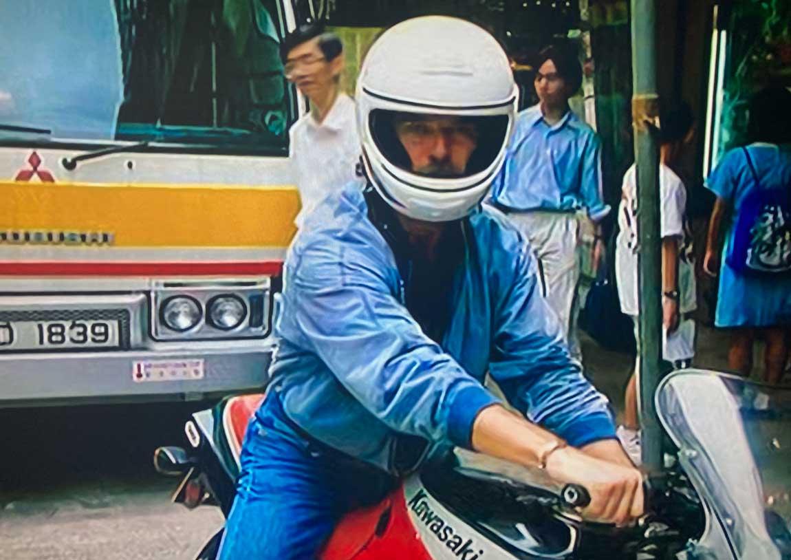 Night Watch Pierce Brosnan motorbike